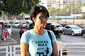 Gul Panag, cast of 'Fatso' arrives to sell tickets at PVR, Juhu (6).jpg