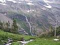 Gunsight Mountain with its beautiful folded strata. Sunday, July 22,2007 - panoramio.jpg