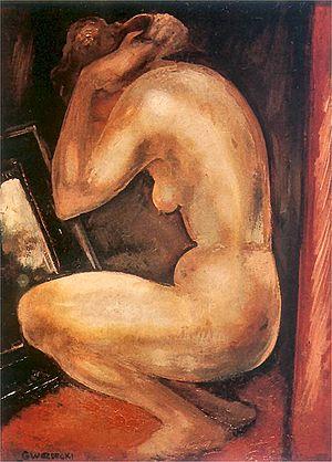 Gustaw Gwozdecki - Image: Gwozdecki Kobieta przed lustrem