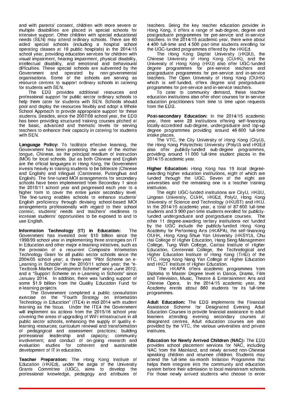 Page:HKFactSheet Education 032015 pdf/2 - Wikisource, the