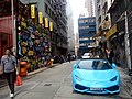 HK 上環 Sheung Wan 太平山街 Tai Ping Shan Street Feb-2018 Lnv2 林寶堅尼 Lamborghini blue carpark TH668.jpg