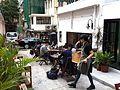HK 上環 Sheung Wan 太平山街 Tai Ping Shan Street cafe TeaHKa Tea House back lane sidewalk outdoor Jan-2014.JPG
