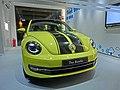 HK 海洋公園 Ocean Park showroom Volkswagen 福士甲蟲車 VW The Beetle sign yellow car night Apr-2013.JPG