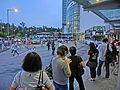 HK 馬料水 Ma Liu Shui 渾祥街 Chak Cheung Street Bus Terminus evening Aug-2013 KMBus 87K stop visitors.JPG