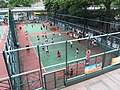 HK CWB HKCL terrace fence view Moreton Terrace Temp Sportground Indonesian Volleyball players Aug-2012.JPG