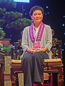 HK Hung Hom 香港体育馆 Coliseum May-2013 香港佛教联合会 Hong Kong Buddhist Association 陈洁灵 Elisa Chan smile.JPG