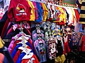HK North Point 北角 馬寶道 Marble Road outside market children angry bird clothing Winter Dec-2012.JPG