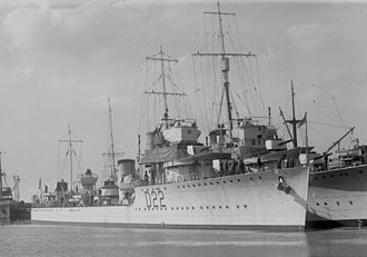V and W-class destroyer - Image: HMAS Waterhen SLV Green