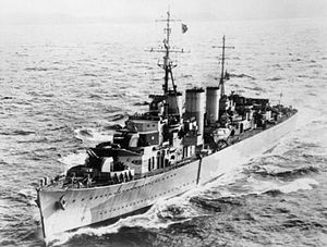 HMS Welshman in 1942