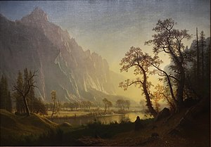 HRSOA AlbertBierstadt-Sunrise at Glacier Station.jpg