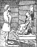 Gunnhild learns that Erik is dead. Illustration by Krohg.