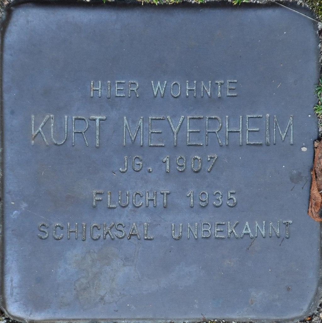 Hagenow Stolperstein Parkstraße 33 Meyerheim, Kurt
