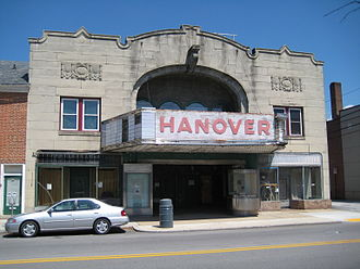 Hanover, Pennsylvania - Hanover Theater, built 1928