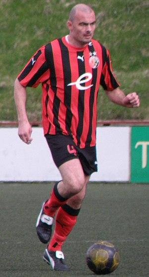 Hans á Lag - Hans á Lag playing for HB Tórshavn vs. FC Suðuroy on 29 May 2010 in Vágur