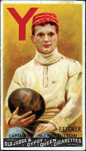 Harry Beecher - Beecher depicted on one of the first football card's