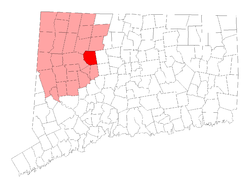 Location in Litchfield County, کنیکٹیکٹ