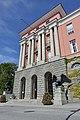 Haugesund rådhus Rådhuset City Hall Munthe-Kaas Blakstad 1931 Skåregata Søylefasade Columns Portal Ørner Eagles Dyre Vaa Norway 2020-06-08 09632.jpg