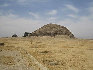 East side of the pyramid of Amenemhet III.  in Hawara