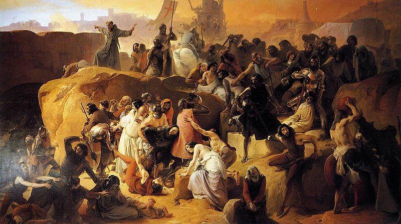 Hayez, Fracesco - Crusaders Thirsting near Jerusalem - 1836-50.jpg