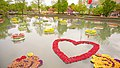 Heart shape on the surface of the water, Tonami Tulip Park.jpg