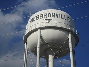 Water tower in Hebbronville