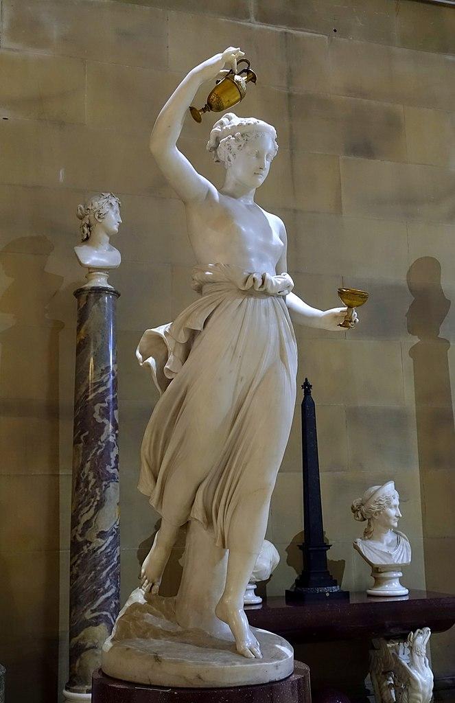 Chatsworth House History: File:Hebe By Antonio Canova, 1808, Marble