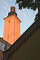 Heizkraftwerkturm am ehem. Maschinen-Ingenieur-Laboratorium hinterm Marstall der Königs-Ulanen (heute Teil Technische Informationsbibliothek TIB d. Uni Hannover am Welfengarten Puttenser Felde.jpg