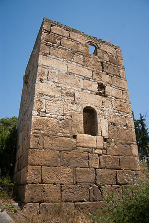 Achinos, Phthiotis - The medieval tower of Achinos, built by reusing ancient material (spolia)