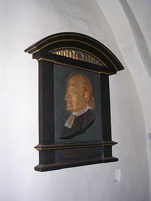 Henric Schartau - Portrait of Schartau in Stora Råby Church outside Lund.
