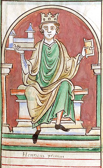 Henry I of England - Miniature from Matthew Paris's Historia Anglorum