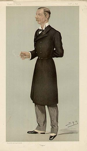 "Henry Edward Colvile - ""Odger"" Colonel Colvile as caricatured by Spy (Leslie Ward) in Vanity Fair, October 1895"