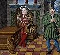 Henry VIII with harp - Psalter of Henry VIII (1530-1547), f.63v - BL Royal MS 2 A XVI (cropped).jpg