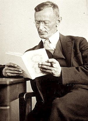 1927 in poetry - Hermann Hesse, photographed this year