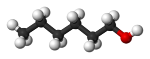 1-Hexanol - Image: Hexan 1 ol 3D balls