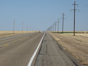 Cimarron County, Oklahoma - Highway 412 in Cimarron County
