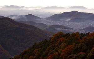 Seiban Kyūryō Prefectural Natural Park - Himeji viewed from Mount Shosha