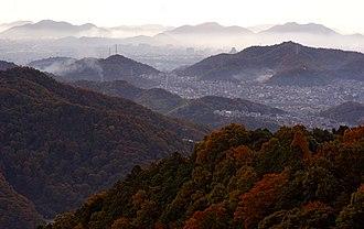 Himeji Castle - Image: Himeji Mt Shosha 01n 4592