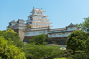 Himeji Castle - Himeji castle in May 2015 after the five-year renovation of the roof and walls