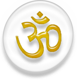 Aum, Hindi text representing an all-encompassing mystical entity, the Hindu religion and philosophy