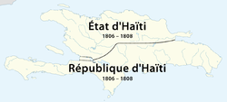 The State of Haiti in the north of Hispaniola