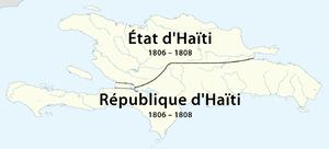 State of Haiti - The State of Haiti in the north of Hispaniola