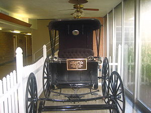 Jackson County, Texas - Historical carriage inside the Jackson County, Texas, Courthouse