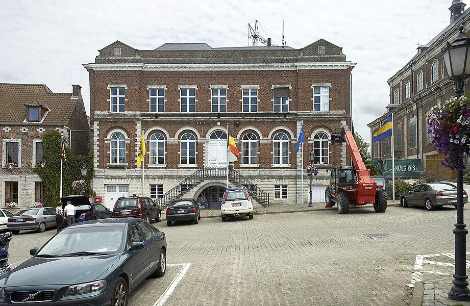 Town hall in Hoegaarden, Belgium