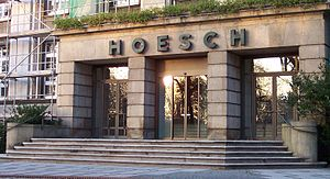 Hoesch AG - Entrance to the Hoesch headquarters in Dortmund