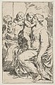 Holy Family with Saint John the Baptist, copy in reverse after Cantarini MET DP815095.jpg