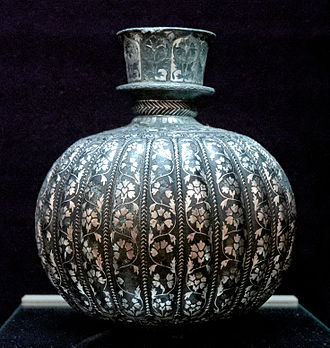 Culture of Hyderabad - A Bidriware of the 18th century, displayed at Musée du Louvre