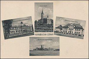 Horní Suchá - Postcard from Horní Suchá, 1928