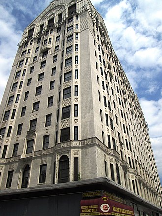 Hotel Theresa - The Theresa from below at 124th Street (2013)
