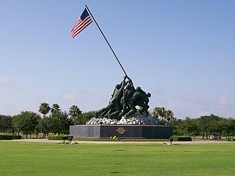 Marine Military Academy - Iwo Jima Monument (1982).