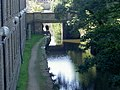 Huddersfield Narrow Canal to the rear of Canal Side East, Huddersfield University - geograph.org.uk - 361996.jpg